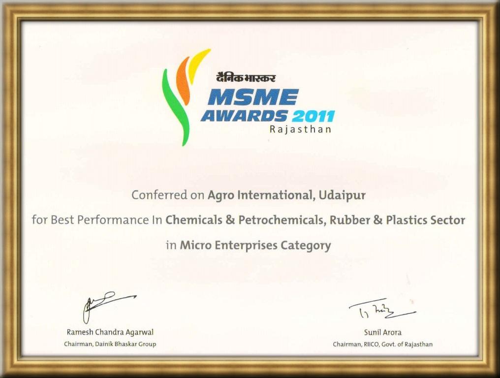 Dainik Bhaskar MSME award